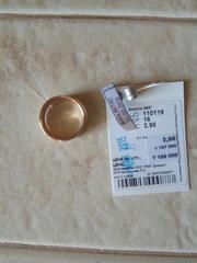 продам новое золотое кольцо размер 16
